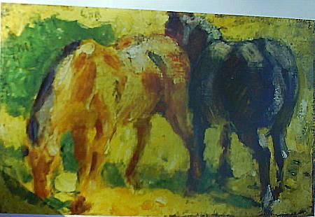 Pequeño cuadro de caballos